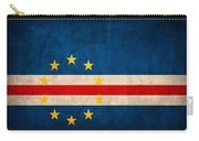 Cape Verde Flag Vintage Distressed Finish Carry-all Pouch