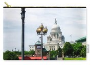 Capitol Building Seen From Waterplace Park Carry-all Pouch by Susan Savad