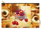 Cappuccino Abstract Collage Cherries Carry-all Pouch