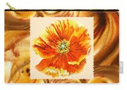 Cappuccino Abstract Collage Poppy Carry-all Pouch