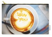 Cappuccino Carry-all Pouch by Fabrizio Troiani