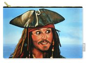 Captain Jack Sparrow Painting Carry-all Pouch