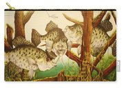 Captivating Crappies Carry-all Pouch by Bruce Bley