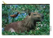 Capybara And Jacana Carry-all Pouch by Francois Gohier