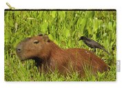 Capybara And Smooth Billed Ani Carry-all Pouch