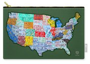 Car Tag Number Plate Art Usa On Green Carry-all Pouch