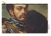 Carabinier Officer With His Horse, C.1814 Oil On Canvas Carry-all Pouch