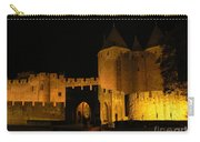 Carcassonne At Night Carry-all Pouch by France  Art