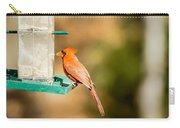 Cardinal Bird At Bird-feeder Carry-all Pouch