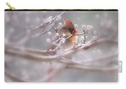 Cardinal - Bird - Lady In The Rain Carry-all Pouch