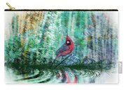 Cardinal - Featured In Comfortable Art-wildlife-and Nature Wildlife Groups Carry-all Pouch