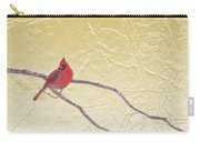 Cardinal In Gold Leaf Carry-all Pouch