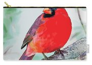 Cardinal In Ice Tree Carry-all Pouch