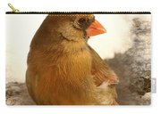 Cardinal In Snow Carry-all Pouch