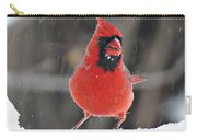 Cardinal In Snowstorm Carry-all Pouch