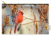Cardinal In The Pokeberries Carry-all Pouch