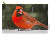 Cardinal In The Snowstorm Carry-all Pouch