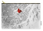 Cardinal In Winter Carry-all Pouch by Ellen Henneke