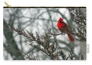 Cardinal In Winter Carry-all Pouch