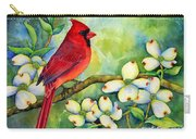 Cardinal On Dogwood Carry-all Pouch