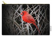 Cardinal Red With Black Carry-all Pouch