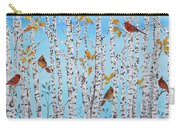 Cardinals Among The Birch-jp2061 Carry-all Pouch