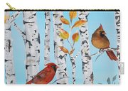 Cardinals Among The Birch-d Carry-all Pouch