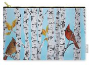 Cardinals Among The Birch-e Carry-all Pouch