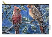 Cardinals And Holly Carry-all Pouch