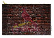 Cardinals Baseball Graffiti On Brick  Carry-all Pouch