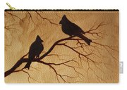 Cardinals Silhouettes Coffee Painting Carry-all Pouch
