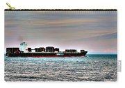 Cargo Ship Near Chesapeake Bay Bridge Tunnel Carry-all Pouch