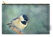 Carlina Chickadee With Soft Blue Bokeh Carry-all Pouch