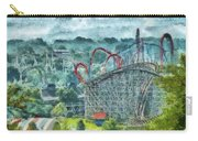 Carnival - The Thrill Ride Carry-all Pouch by Mike Savad