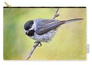Carolina Chickadee On Angled Perch - Digital Paint Iv Carry-all Pouch