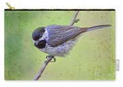 Carolina Chickadee On Angled Perch Carry-all Pouch