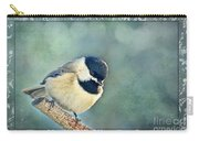 Carolina Chickadee With Decorative Frame I Carry-all Pouch