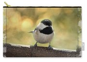 Carolina Chickadee With Decorative Frame IIi Carry-all Pouch