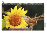Carolina Wren And Sunflowers Carry-all Pouch