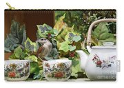 Carolina Wren And Tea Cups Carry-all Pouch