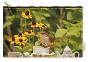 Carolina Wren And Tiny Tea Time Carry-all Pouch