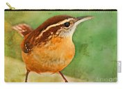 Carolina Wren Greeting Card Size Carry-all Pouch