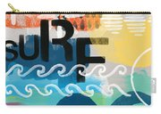 Carousel #7 Surf - Contemporary Abstract Art Carry-all Pouch by Linda Woods
