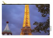 Carousel And Eiffel Tower Carry-all Pouch