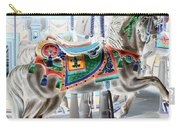 Carousel Horse In Negative Colors Carry-all Pouch