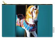 Carousel Horse White Carry-all Pouch