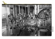 Carousel Horses In Black And White Carry-all Pouch