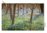 Carpet Of Blue Flowers In Spring Forest Carry-all Pouch by Elena Elisseeva