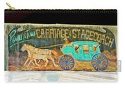 Carriage And Stagecoach Sign Carry-all Pouch