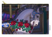 Carrsoul Horse With Roses Carry-all Pouch
